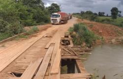 Nova Santa Helena: Ponte em péssimas condições impedem tráfego de carretas pela MT 320