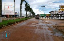 Prefeitura de Nova Monte Verde inicia higienização e desinfestação nas principais avenidas