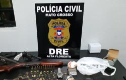 Suspeitos por envolvimento com tráfico são presos com drogas e armas de fogo
