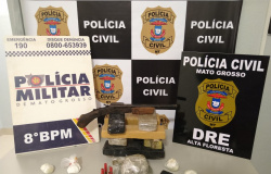 Foragido da Justiça é preso com drogas, arma e munições em Carlinda