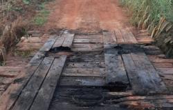 Ponte é danificada em ato de vandalismo em Colíder