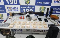 Em Peixoto de Azevedo, PM prende casal com armas, farda camuflada e mais de R$ 7 mil