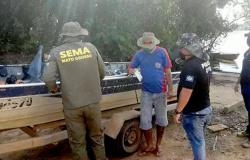 Pescadores e garimpeiros são surpreendidos com operação da Sema nos rios Paranaíta e Teles Pires