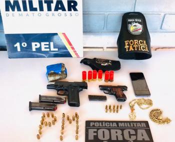 DENÚNCIA DE CÁRCERE: Seis pessoas são detidas com armas e munições em Apiacás