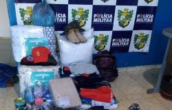 PM recupera produtos furtados de loja e apreende adolescentes em Nova Guarita