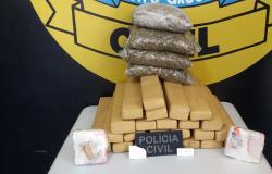 PJC de Juína apreende 30 quilos de droga etiquetada para Alta Floresta