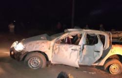 PARANAÍTA: Capotamento de caminhonete com índios caiabis quase termina em tragédia
