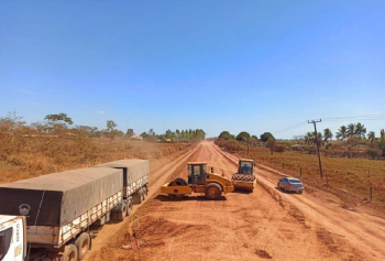 Governo recupera asfalto da MT-419 entre Guarantã do Norte e Novo Mundo