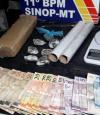 Casal com filhos de colo é pego quando traficava em bairro de Sinop