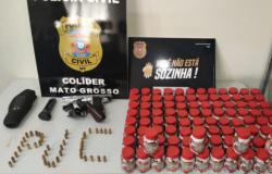 Colíder: homem investigado por violência doméstica é preso pela Polícia Civil com duas armas de fogo