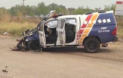 Policial e mais 3 ficam feridos em violenta colisão envolvendo viatura em Mato Grosso