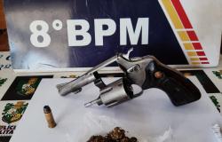 Alta Floresta: Dupla é detida com arma e droga no Vila Nova