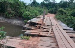 SETOR SUL: Ponte quebrada deixa produtores isolados em Alta Floresta