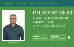 Delegado Vinícius é o primeiro a ter candidatura deferida pela Justiça Eleitoral