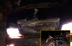 Carlinda: acidente na MT-208 entre moto e caminhonete deixa dois feridos