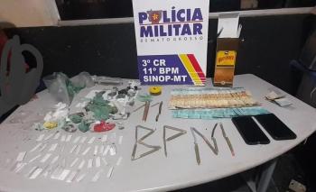 SINOP: Operação integrada encontra adolescentes consumindo droga e álcool e detém dono de espaço
