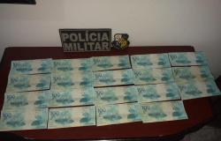 PM de Mato Grosso prende homem com R$ 1,9 mil em notas falsas de 100 reais