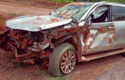 RODOVIA MT-208: Camionete fica destruída ao capotar em Alta Floresta