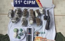 Casal membro de organização criminosa é rendido com revólver e droga na rodoviária de Colniza