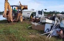 Para Organizadores do Mutirão de Limpeza do Rio Teles Pires apoio da Prefeitura de Carlinda foi fundamental