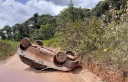 JUINA: Secretário e servidores saem ilesos de acidente após carro capotar