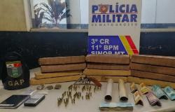 Casal membro de organização criminosa é pego com 12 tabletes de maconha em Sinop