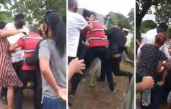 DO CEMITÉRIO À DELEGACIA: Vídeo mostra briga generalizada durante enterro em MT