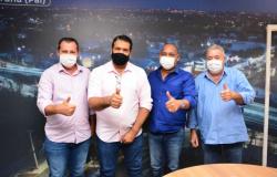 Cuiabá: Juca recebe presidente e vice da Câmara de Alta Floresta para troca de experiências