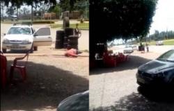 MT - Após briga, dono de restaurante atropela cliente de propósito e foge
