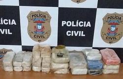 PRF prende homem em Alta Floresta com cerca de 17 kg de cocaína escondidos em veículo
