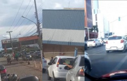 MT - Em protesto, motoristas abastecem R$ 1
