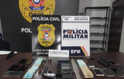 Operação integrada prende quatro pessoas e apreende R$ 30 mil de associação criminosa, em Lucas do Rio Verde