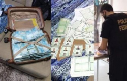 PF apreende mala com R$ 800 mil com acusado de fraudes na CEF em MT