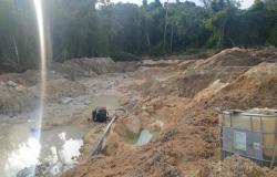 Polícia ambiental descobre grande área de garimpo ilegal em Paranaíta