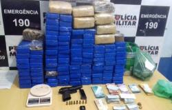 PM apreende 126 tabletes de maconha escondidos em Mato Grosso