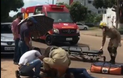 Mulher fica ferida após acidente de moto em Alta Floresta