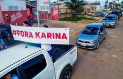"""Moradores de Nova Monte Verde fazem """"buzinaço"""" e pedem exoneração de secretária de Saúde"""