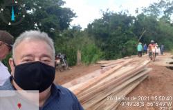 Vereador Tuti cobra e prefeitura recupera ponte próxima ao bairro Vila Nova