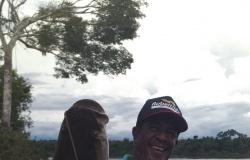 CARLINDA: Mais um pirarucu com 60 kg é fisgado no Rio Teles Pires