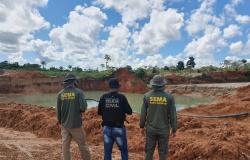 Regional de Alta Floresta multa e embarga áreas de desmatamento ilegal, garimpos e posto de gasolina em Apiacás e região
