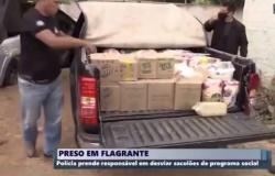 Cabeleireiro é preso acusado de vender cestas básicas que seriam doadas para carentes em MT