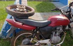 GATUNO MANSO: PM recupera uma moto furtada da Secretaria de Trânsito em AF