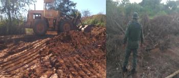 Batalhão Ambiental multa dono de área já embargada em R$ 50 mil por descumprir medida