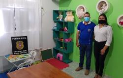 Delegacia de Nova Monte Verde recebe sala de atendimento às mulheres e crianças