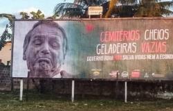 'Cemitérios cheios, geladeiras vazias': outdoors com críticas a Bolsonaro são retirados após pressão em MT