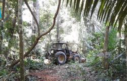 Sema apreende maquinários utilizados para desmatar Unidades de Conservação