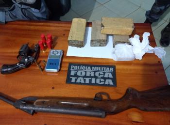 Nova Bandeirantes: Jovem detido por tráfico e armas são tiradas de circulação