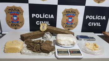 JUARA:  Polícia Civil prende suspeitos e apreende grande quantidade de drogas