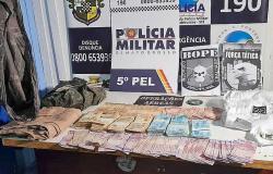 PMs encontram mais R$ 45 mil em mata onde estão ladrões de banco em Nova Bandeirantes
