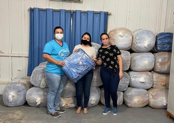 Secretaria de Assistência Social de Apiacás recebeu 400 cobertores do Programa Aconchego